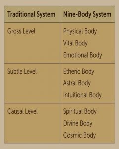 Nine Bodies System Chart